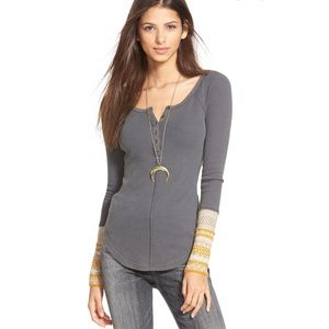 Free People 'Newbie' Ski Lodge Cuff Thermal Top